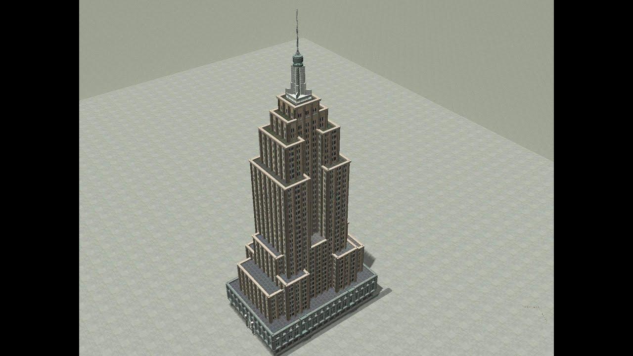 Rollercoaster Tycoon 3 / Meine Bauten + Download : Empire State Building