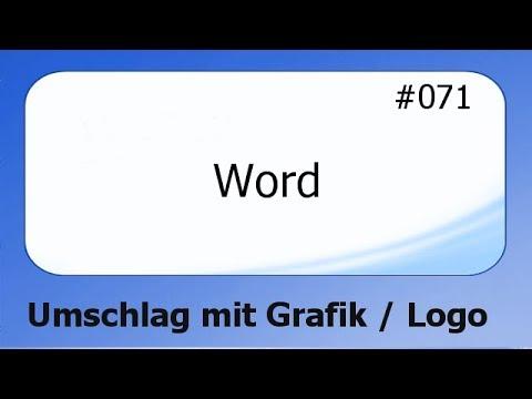 Word #071 Umschlag mit Grafik/Logo [deutsch]