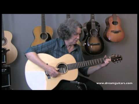 Mary Flower plays a Tippin Bravado at Dream Guitars
