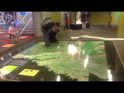 Satellite map of Arkansas at Museum of Discovery, Little Rock