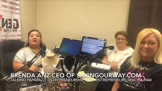 Brenda Anz on GenX 99.1FM with Paparazzi Entrepreneurs Tracy & Pam!