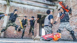 Captain Black Dragon Warriors Skill Nerf Guns / Fight Gangster Crime Carrier Wanted