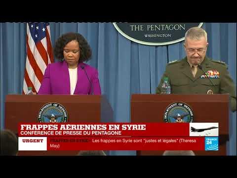 REPLAY - Conférence de presse du Pentagone après les frappes en Syrie