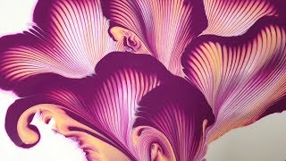 (173) Chain pull _ Amazing Flower _ Acrylic Pouring _ Fluid acrylic _ String pull _ Designer Gemma77
