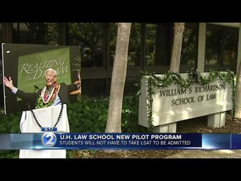 University of Hawaii Law School - Apply without taking the LSAT!
