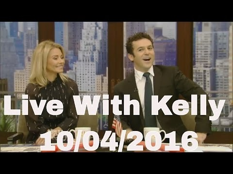 Live With Kelly 10/04/2016 co-host Fred Savage Justin Theroux ,Olympian Lindsey Vonn