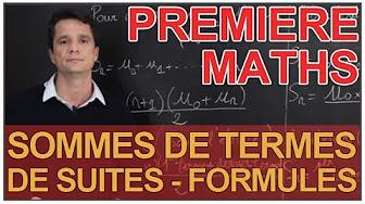 Suites - MATHS - 1ère S/ES/L - YouTube