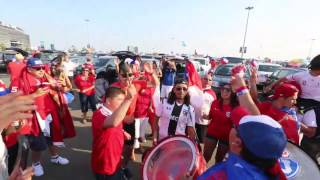 Chile and Argentina fans before Copa America final at MetLife Stadium