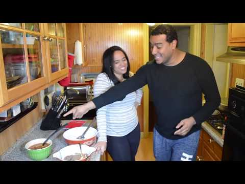 Diana cooks to prove that she is Dominican !!! Rice, Beans, and Steak!!