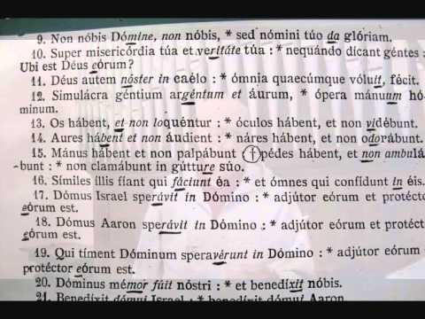 Psalmus 113a, 114 - In Exitu - Antifona DEUS  AUTEM NOSTER, Studio Di Giovanni Vianini, Milano, It.