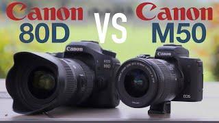 Canon 80D vs EOS M50