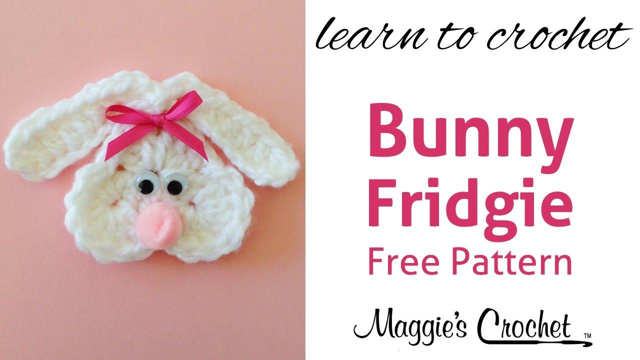 Cute Bunny Fridgie Free Crochet Pattern Right Handed Youtube