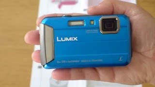 panasonic Lumix DMC-FT30 Waterproof Camera Unboxing & Review
