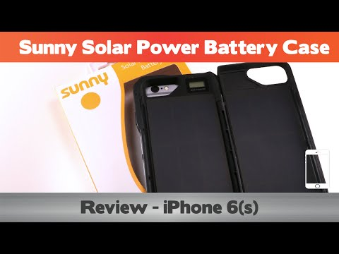 Sunny Solar Case Review  - iPhone 6s Battery cases