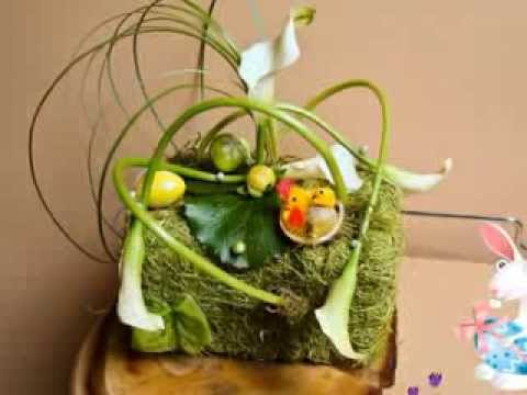 Art floral printemps et p ques youtube - Art floral paques ...