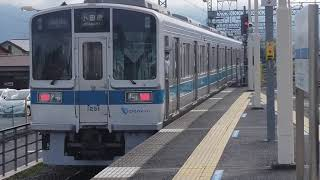 小田急1000形1251F 各駅停車小田原行 新松田駅発車