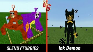 Download Bendy The Ink Demon vs. Slendytubbies | Minecraft (INTENSE BATTLE!) Mp3 and Videos
