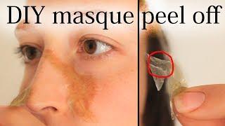 DIY masque PEEL OFF anti points noirs (2 ingrédients vegan seulement !) - #198