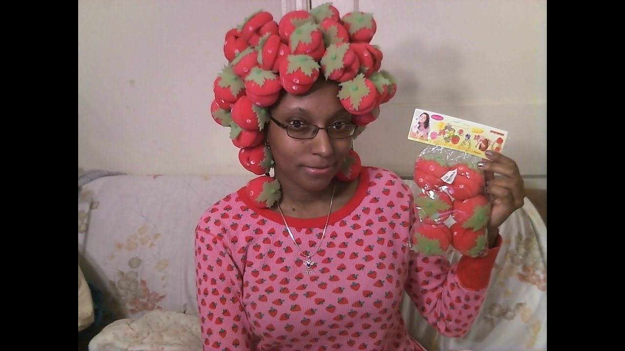 Strawberry Curlers On Locs Part 1 Youtube