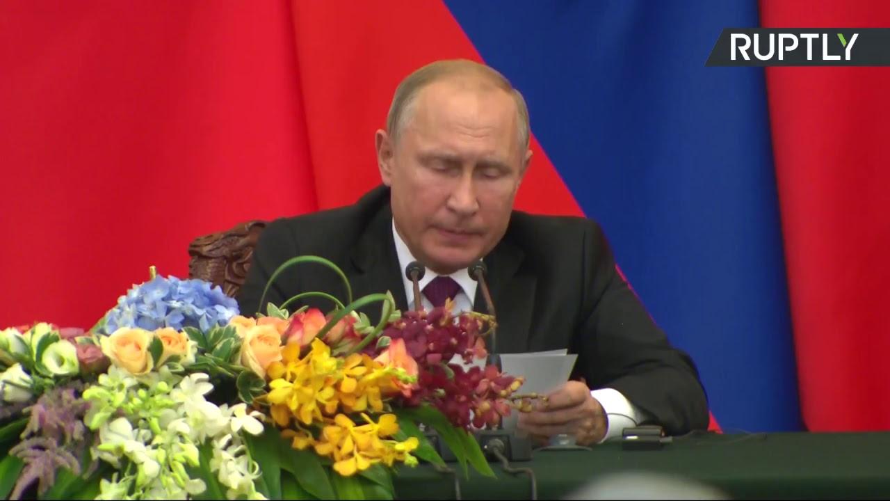 Владимир Путин и Си Цзиньпин подводят итоги переговоров в Пекине