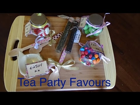 DIY home made Tea Party Favours for your Tea Party