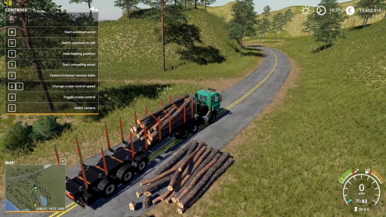 FS19 - Fliegl Timber Runner With Autoload Wood v1 0