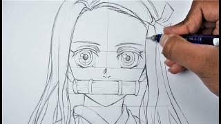 """How to draw NEZUKO """"Basic…"""