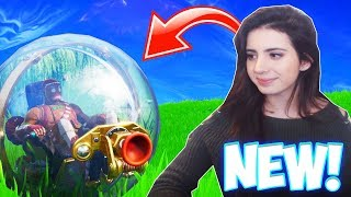 "the NEW HAMSTER BALL Gameplay in Fortnite! (How the new ""Baller"" Vehicle Works!)"