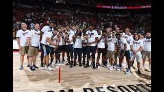Memphis Grizzlies Full MGM Resorts NBA Summer League Championship Trophy Ceremony