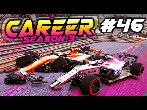 F1 2017 Career Mode Part 46: CHAOS & CRASHES AT MONACO!