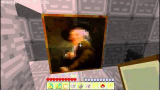 Minecraft - How to build a secret door behind a painting