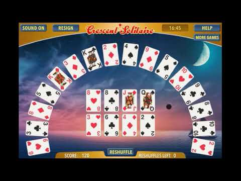 CRESCENT SOLITAIRE - Game Preview