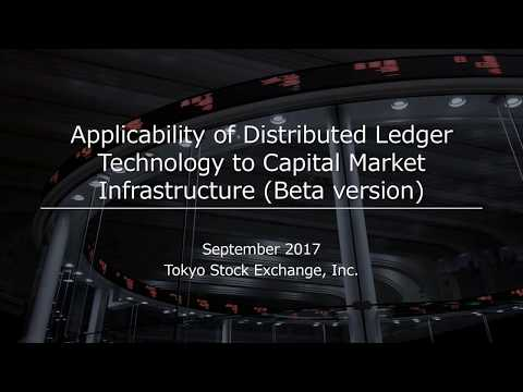Applicability of Distributed Ledger Technology to Capital Market Infrastructure Beta version