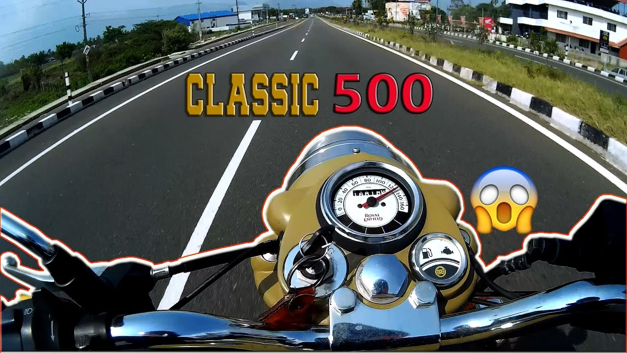 Royal Enfield Classic 500 Top Speed Run Acceleration Desert