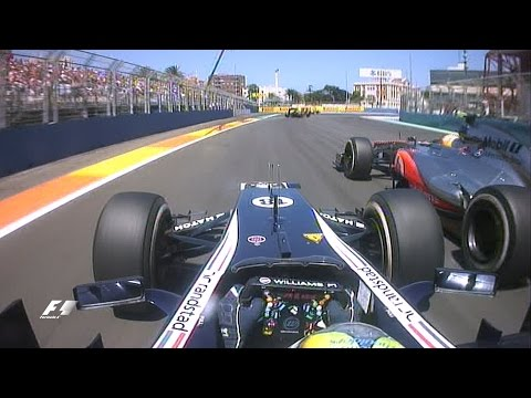 F1 Classic Onboard: Maldonado v Hamilton at the 2012 European Grand Prix