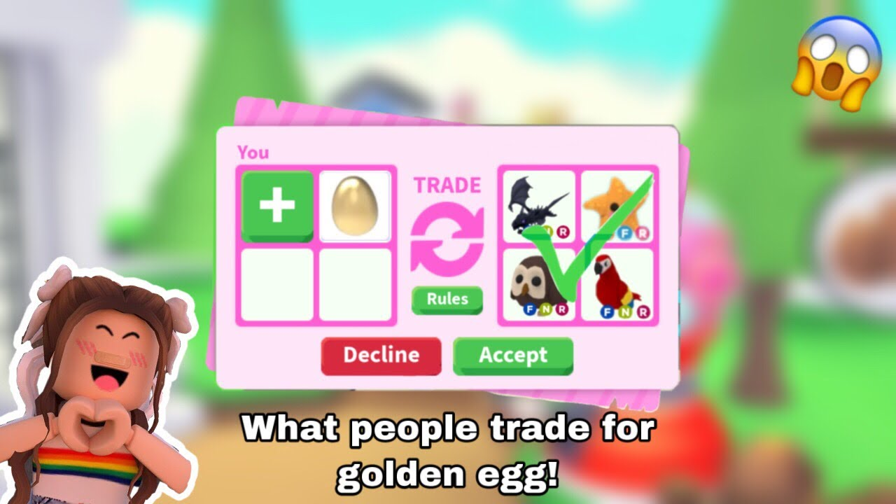 What People Trade For Golden Egg || Roblox Adopt Me - YouTube