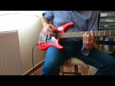 Kardeş Türküler - Asfur - gitar cover - Piezo rod in electric guitar