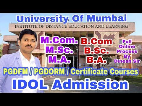 IDOL Admission Process | Mumbai University | B.Com/B.A/B.Sc/M.Com/M.A/M.Sc | Dinesh Sir