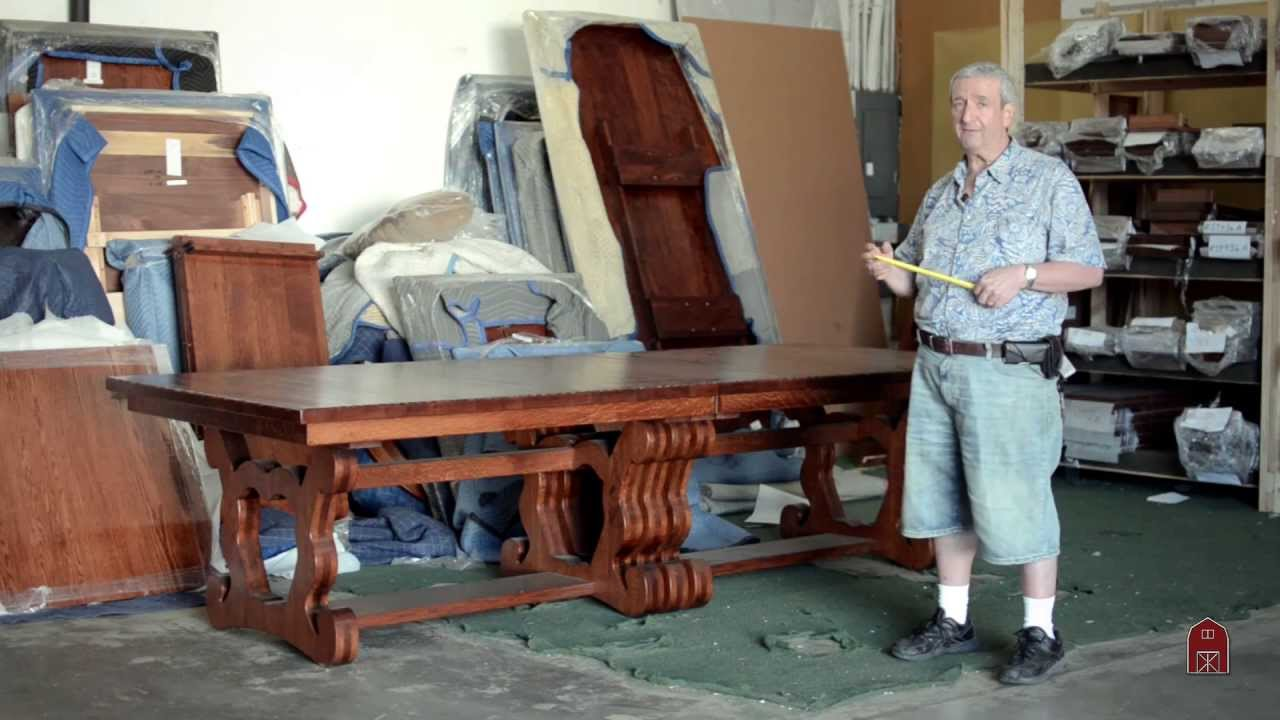 Expanding Banquet Dining Table fit for a Castle 20 feet with leaves inserted! - YouTube & Expanding Banquet Dining Table fit for a Castle 20 feet with leaves ...