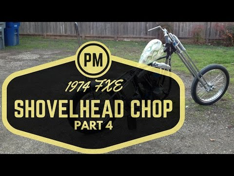 PART 4 HARLEY FXE SHOVELHEAD CHOP PROJECT | King and Queen Springer