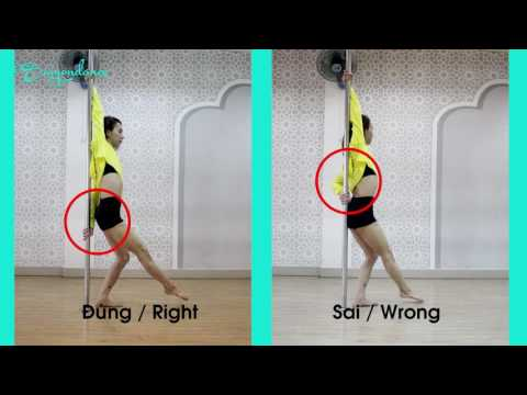 Pole dance tutorial - Tự học múa cột - Kim Long SaigonDance