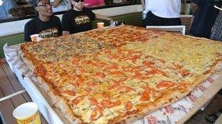Big Mama's & Papa's Pizzeria 54 Inch Pizza Challenge *Vomit Alert*