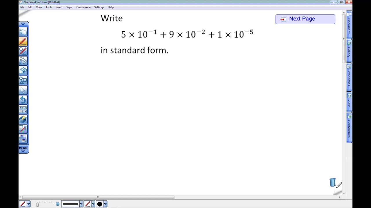 Writing Numbers In Standard Form From Expanded Form Youtube