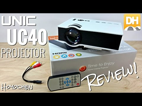 "Unic UC40 Projector - $100 - [Unboxing & Review] - 800 Lumens - 130"" - HDMI - LED - DHgate.com"
