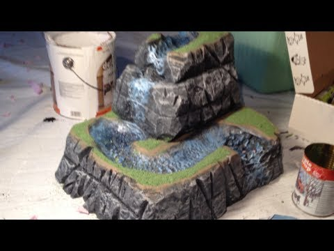 How To Make A Realistic Waterfall Model Youtube