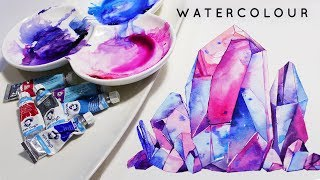CRYSTALS | Watercolour TIMELAPSE | Aquarellina