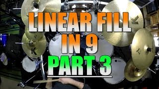 Drum Lessons - Linear Pattern Of 9 - Part 3