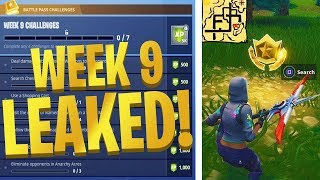 "Fortnite WEEK 9 CHALLENGES GUIDE! ""Shifty Shafts Treasure Map, Loot Lake Dance Off"" (Week 9 Leaked)"