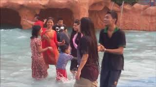 Hot Dance at fantasy kingdom water world. Very Hot Couple Dance at Water Park.