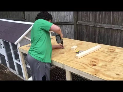 How We Built An Extension On Our Chicken Coop Youtube